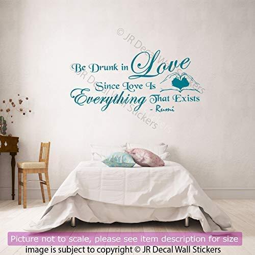 Jalaluddin Rumi Zitat auf LOVE Vinyl Wandkunst Aufkleber Rumi romantische Zitat auf Leben Wandtattoos abnehmbare Schlafzimmer Dekor JRD3