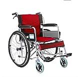 KY Kinderrollstühle Elektrische Rollstühle Faltung Rollstuhl, Old People's Schubkarre, Portable, Behinderten-, Multi-Funktions-Old-Age-Roller Scooter (Farbe : Red)