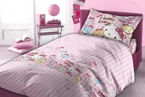Neu 100% Baumwolle Flanell (Original Sanrio Hello Kitty 160x200 NEU Bettwäsche Bettgarnitur Flanell Öko Tex Stanrd 100 Baumwolle)