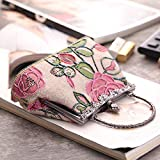 Die Tasche der klassischen Portable Printing ist EIN Ethnic Style Nostalgic Casual Linen Bag,Pink