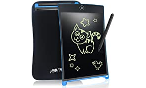 8.5 Inch LCD Writing Tablet Digital Portable NEWYES Touch Pad Rugged Drawing Tablet Magnetic Fridge Planner Office Memo Boards with Sleeve case (blue)