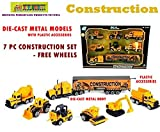 #6: Toy-Station - Die CAST Metal Play Set - Perfect Toy Set for Kids (Construction Set - Orange)