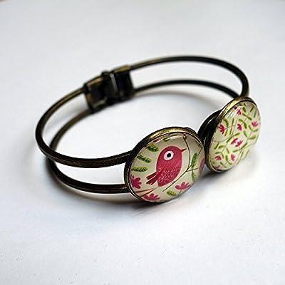 Bracelet double, Le bel oiseau rose