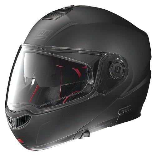 Nolan N104absolue Classic à visière Polycarbonate N-COM–Mat De Moto Noir Taille XL