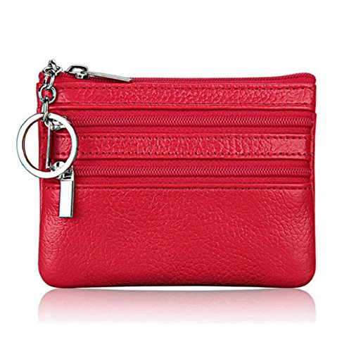 Dairyshop Borsa donna Portafoglio, Borsa di promozione della borsa moneta del cuoio delle donne (Nero) Rosso
