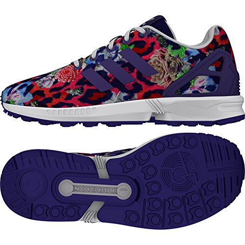 adidas Zx Flux, Baskets Basses Mixte Enfant Cheetah Print
