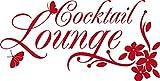 GRAZDesign Küche dekorieren Cocktail Lounge - Geschenk Frau Geburtstag Blumen - Sprüche Wandtattoo Sprüche - Wandtattoo Küche Bar / 59x30cm / rot / 620096_30_031