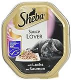 Sheba Katzenfutter Nassfutter Sauce Lover mit Lachs, 11 x 85 g