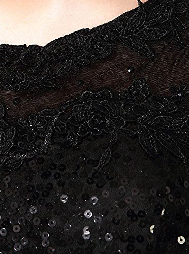 Find Dress Femme Elégant Sexy Robe de Soirée/Mariage/Cérémonie sans Manches Traîne Royale en Sequins Champagne