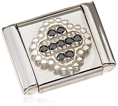 Nomination - 332314-02, Charm e ciondolo per bracciale  in acciaio inossidabile, donna, nero