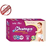 Champs High Absorbent Premium Pant Style Diaper | Premium Pant Diapers (Extra Large, 46 Pieces)| Premium Diapers | Premium Baby Diapers | Anti-rash And Anti-bacterial Diaper | Premium Diapers )