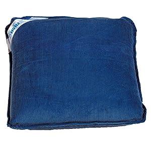 Sport-Thieme Vibrationskissen | Massagekissen mit druckempfindlicher Vibrationsfunktion | Batteriebetrieben, Waschar, Leicht u. Mobil | 100% Baumwolle | 30×30 cm | Blau