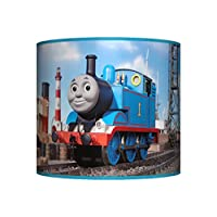 """THOMAS THE TANK ENGINE CEILING LAMPSHADE ~ 10"""" DRUM ~ BOYS BEDROOM LAMP SHADE"""