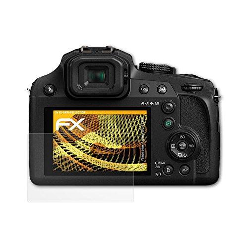 atFoliX Schutzfolie für Panasonic Lumix DC-FZ82 Displayschutzfolie - 3 x FX-Antireflex blendfreie Folie