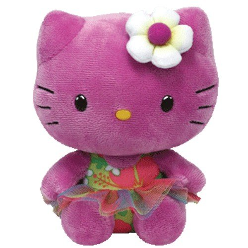 Hello Kitty - Peluche, 15 cm, color lila (TY 41022TY)