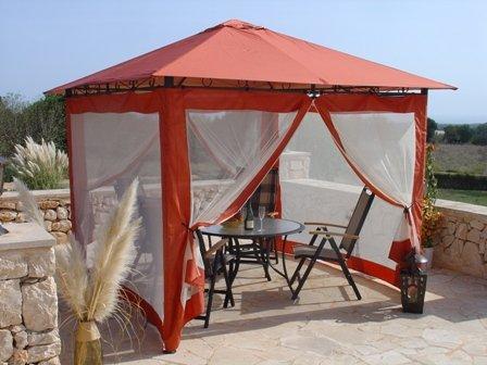 Grasekamp 4 Seitenteile zu Gartenpavillon Antik Pavillon Partyzelt 3x3m Terra