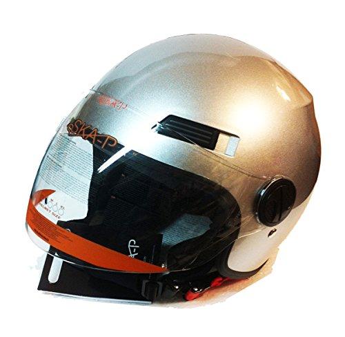 Preisvergleich Produktbild Helm Jet 1LH Urban Forever Young ska-p Silber Größe L