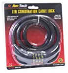 Am-Tech T1835 LED Combination Cable Lock