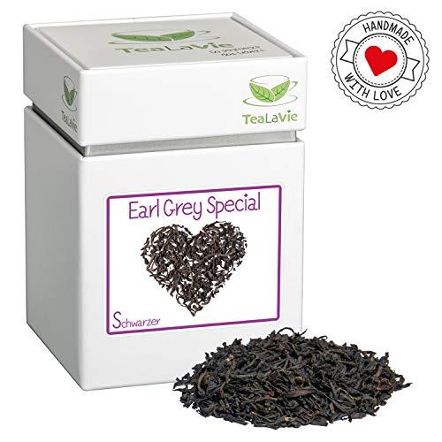 TeaLaVie - Schwarztee lose   Earl Grey Special - kräftige Bergamottenote   edle Teedose für Teeliebhaber   ideal für Dankeschön Geschenke   100g Dose loser Schwarzer Tee
