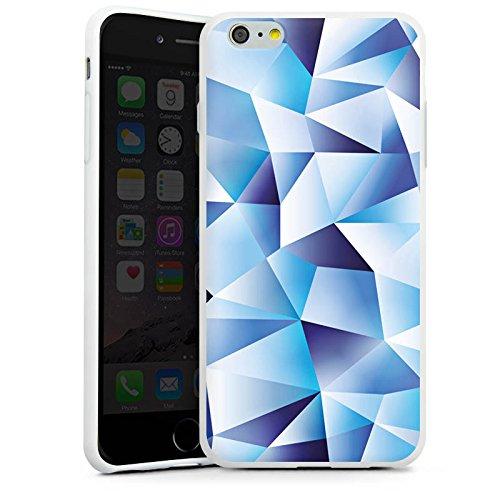 Apple iPhone X Silikon Hülle Case Schutzhülle Kristall Muster Struktur Silikon Case weiß