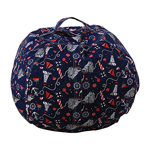 TOYLT Stofftier Kuscheltiere Aufbewahrung Aufbewahrungstasche Sitzsack Kinder Soft Pouch Stoff Stuhl, Spielzeug Aufbewahrungstaschen mit reißverschluss,26inch