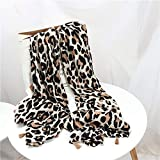 HJJSKK HjjskkWomens Fashion Leopard Round Head Tassel Viscose Scarf Shawl Ladies Soft Print warm wrap Shawl Scarf