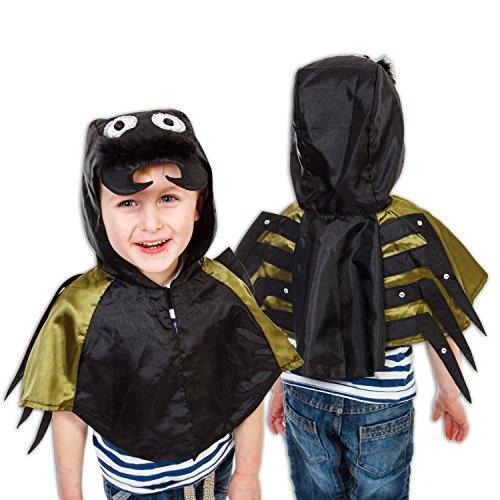 Kinder Kostüm Insekten - Spinnen Kostüm für Kinder 3-8 Jahre alt - Spinnenkostüm Karneval - Slimy Toad