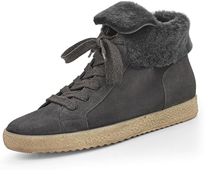 Paul Green 4395-008 Damen Boots aus Veloursleder Wärmendes Futter Sportive Sohle