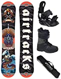 AIRTRACKS Snowboard Set / Board Mr.Yash Carbon Wide Flat Rocker 163 + Snowboard Bindung Star + Boots Master QL 41 + Sb Bag