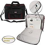BUBM-Projektor-Tasche, Beamertasche tragbare Tragetasche für Projektor und Zubehör, passend für EPSON / SONY / BenQ / Acer / Hitachi / Panasonic / Optoma, mit Schulterriemen, Groß