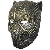 Erik Cosplay Accessoire Masque Noir et Doré Battle Mask Suit Costume de Bataille Léopard Panthère Noire pour Adulte Homme Unisexe