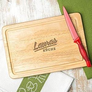 Holz Schneidebrett personalisiert – Geschenk zum Einzug – Einweihungsparty Geschenk – Weihnachtsgeschenk