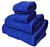 #5: Trident Midnight Blue 4 Pcs Couple Bath Towels Set (Bath & Hand Towel Set)