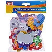 MP PM188-09 - Pegatinas adhesivas de goma Eva con formas