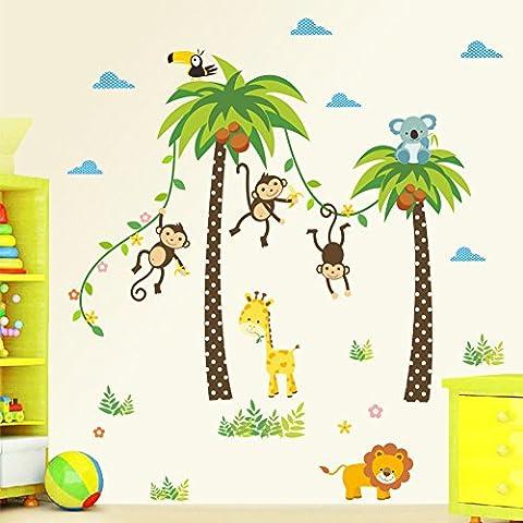 SZCSY Karikatur-Muster-Wand-Aufkleber - bewegliche Aufkleber-Kunst-Deko für Kinderzimmer- oder Kindergartendekoration Wandaufkleber (Großhandel Wand-aufkleber)