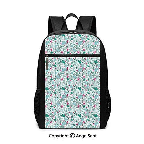 Tropical Animals with African Elements Exotic Nature Leaves School Backpack -