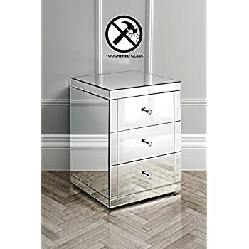 mirrorred furniture. myfurniture mirrored furniture bedside table cabinet 3 drawers lucia chelsea mirrorred