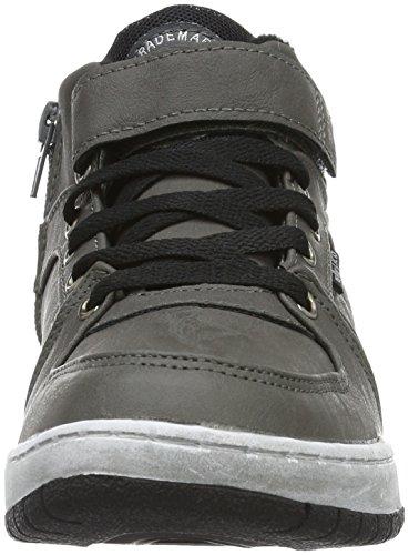 Lico Newspaper Vs, Sneakers Hautes Mixte Enfant Gris (Grau/Schwarz/Blau)