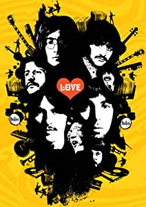 The Beatles–Yellow Love Graphics–A3poster stampa–Picture–Art
