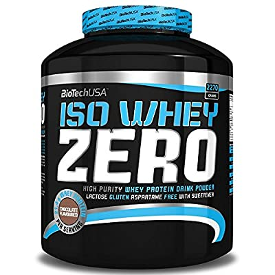 BioTech USA ISO Whey Zero 2.27kg,Maximum Purity Whey Protein Powder with Zero Lactose,Gluten Free, No Added Sugar (Cookies & Cream) from BioTech USA