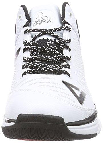Peak Sport Europe Basketballschuh Tony Parker Tp9 Ii, Chaussures de Basketball Homme, Bleu Roi Weiß (White)