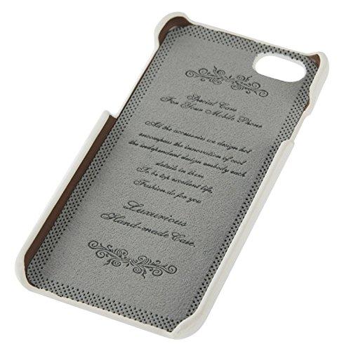 Phone case & Hülle Für iPhone 6 / 6s, Litchi Texture echtes Leder zurück Abdeckung Fall mit Kartenschlitzen und Mode Logo ( Color : Coffee ) White