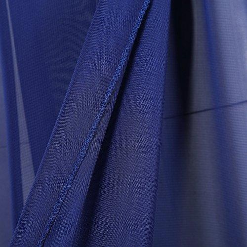 KOJOOIN Damen Elagant Umstandskleid Off Schulter Chiffon Schwanger Fotografie Rock, Festlich Lange Schwangerschafts Kleider Blau - 6