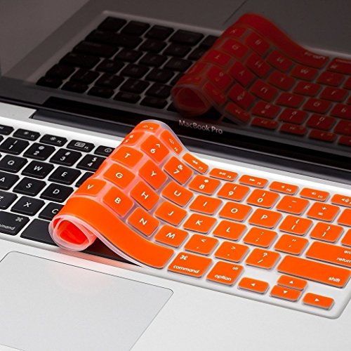 "Heartly Premium Soft Silicone Keyboard Skin Crystal Guard Protector Cover For MacBook Air 11"" inch Vintage Orange"