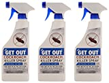#1: Get Out Cockroach Killer Spray Concentrate (Pack of 3) - 1200 ml