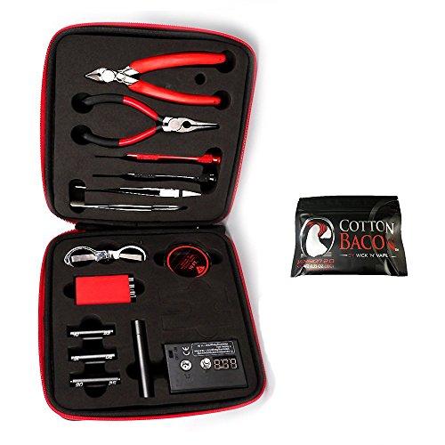 Kit, bauen Spule Kit Komplettpaket, Ohm Meter, Beißzange, Schere, Schraubendreher, Keramik / Ellenbogen Pinzette, A1 Heizdraht, kostenlose hochwertige Baumwolle, Enhanced Edition ()