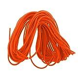 NON 6mm 1-50 Metros De Cordón De Goma Redondo Elástico Naranja Elástico Fuerte Cuerda Amarre - Resistente A Los Rayos UV Y Duradero - 30 m