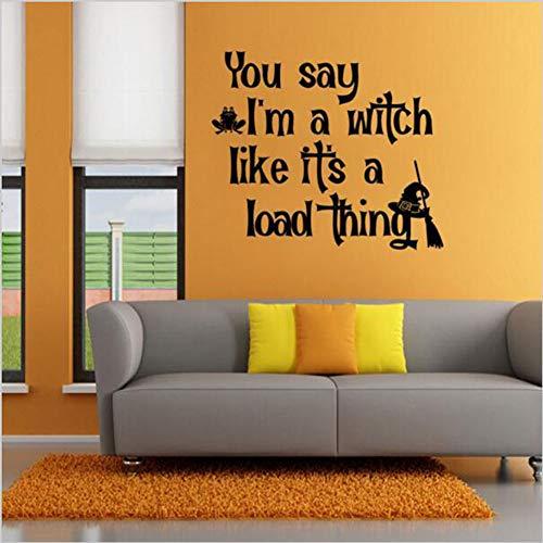 ber - entfernbares Vinyl Englische Gerüchte Wandaufkleber DIY Home Decoration Wandaufkleber Schlafzimmer Wohnzimmer Aufkleber, 57x49cm ()