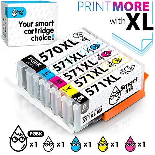 Smart Ink Cartucce Compatibili per Canon PGI-570 CLI-571 XL PGI 570XL CLI 571XL (PGBK & BK/C/M/Y 10 Pack Combo) per la Ricarica delle stampanti Pixma MG5750 MG6850 MG7751 TS5050 TS6050 TS8051 TS9050
