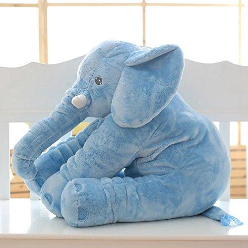 Skylofts Soft Stuffed Animal Elephant Short Plush Doll Cotton Cushion Pillow Cover Toy (Blue)